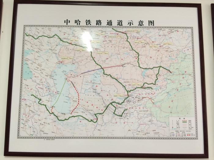 中哈铁路通道示意图